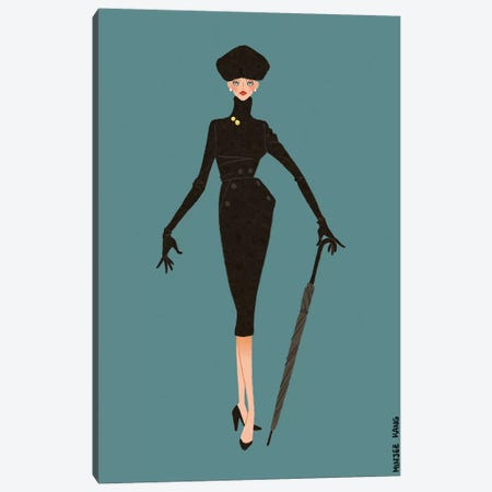 Dior New Look Blue Canvas Print #MKG16} by Minjee Kang Canvas Art