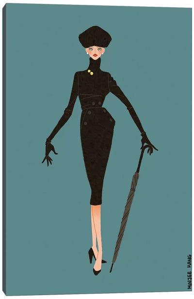 Dior New Look Blue Canvas Art Print