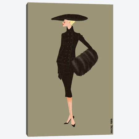 Dior New Look Olive Canvas Print #MKG17} by Minjee Kang Canvas Artwork