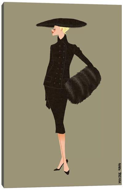 Dior New Look Olive Canvas Art Print