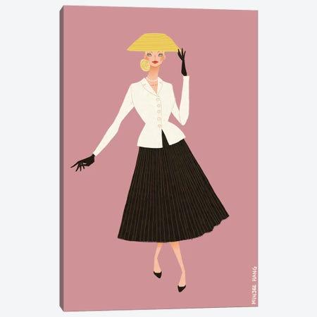 Dior New Look Pink Canvas Print #MKG18} by Minjee Kang Canvas Art Print