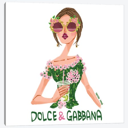 Dolce & Gabbana Lime Canvas Print #MKG21} by Minjee Kang Canvas Wall Art