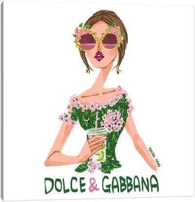 Dolce & Gabbana Lime Canvas Art Print