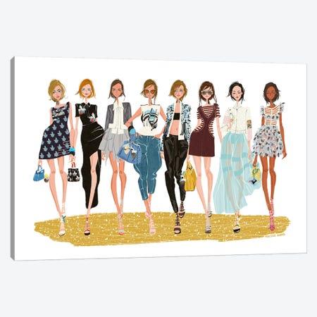 Fendi Crew Canvas Print #MKG25} by Minjee Kang Art Print