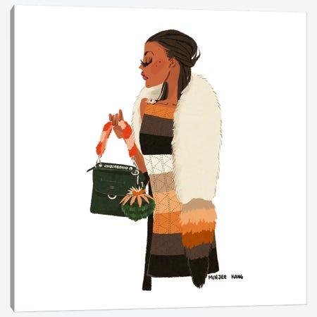 Fendi Lady Canvas Print #MKG26} by Minjee Kang Canvas Art Print