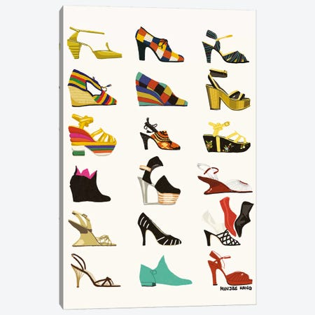 Ferragamo History Canvas Print #MKG28} by Minjee Kang Canvas Art