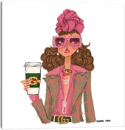 Gucci Coffee Canvas Art Print