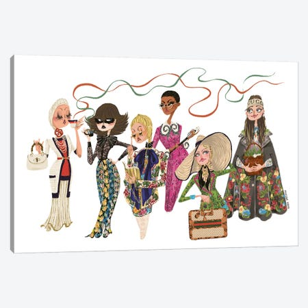 Gucci Crew Canvas Print #MKG32} by Minjee Kang Canvas Print