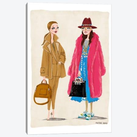 Max Mara & Gucci Canvas Print #MKG51} by Minjee Kang Art Print