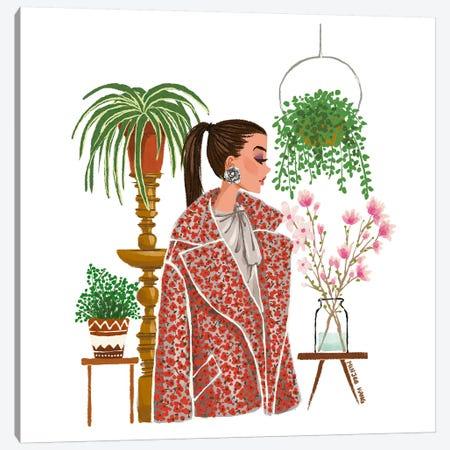 Oscar de la Renta Garden Canvas Print #MKG64} by Minjee Kang Art Print
