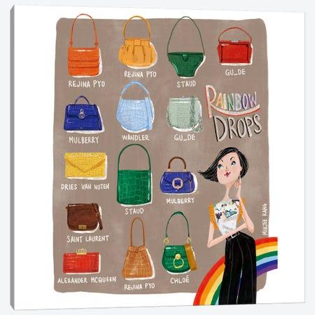 Rainbow Drops Canvas Print #MKG66} by Minjee Kang Canvas Print