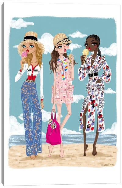 Chanel Beach Canvas Art Print