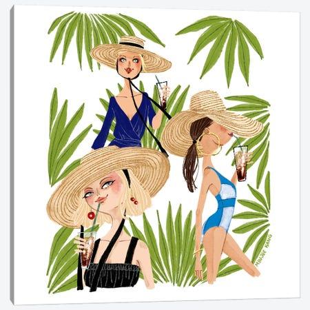 Summer Vibe Canvas Print #MKG70} by Minjee Kang Art Print