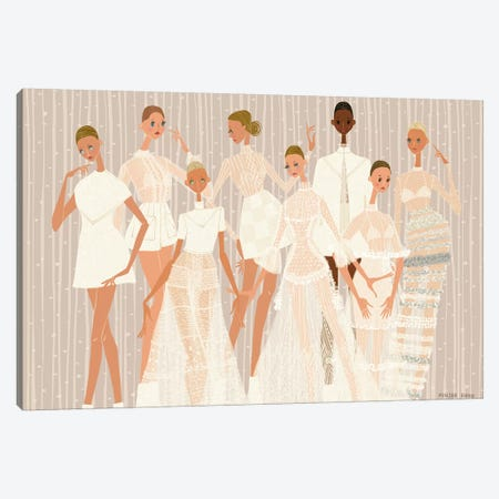 Valentino Couture Canvas Print #MKG74} by Minjee Kang Canvas Art