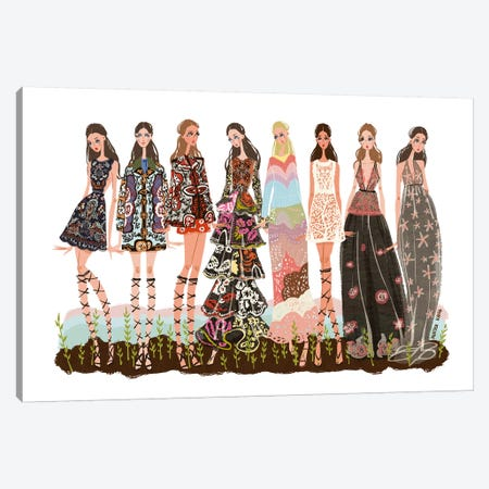Valentino Garden Canvas Print #MKG75} by Minjee Kang Canvas Wall Art