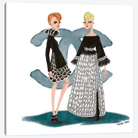 Chanel Couture Canvas Print #MKG7} by Minjee Kang Art Print