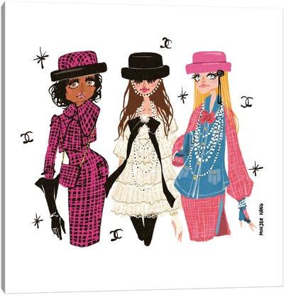 Chanel Girls Canvas Art Print
