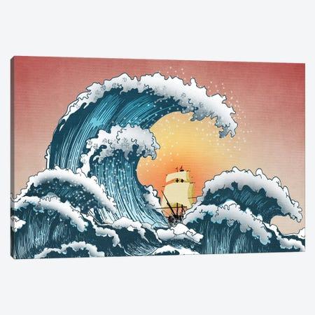 Sea Waves Canvas Print #MKH102} by Mark Ashkenazi Canvas Wall Art