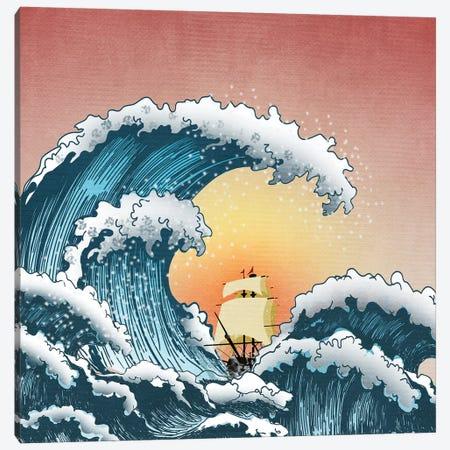 Sea Waves III Canvas Print #MKH103} by Mark Ashkenazi Canvas Wall Art