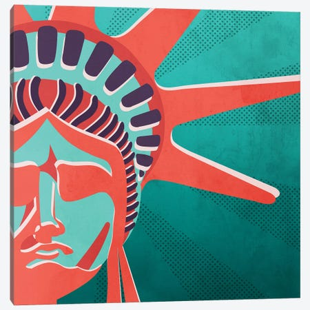 Statue Of Liberty Canvas Print #MKH105} by Mark Ashkenazi Art Print