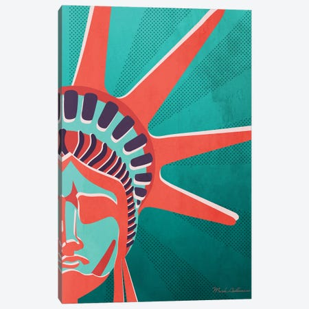 Statue Of Liberty II Canvas Print #MKH106} by Mark Ashkenazi Canvas Print