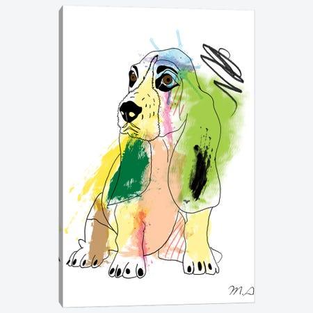 Basset Hound Canvas Print #MKH10} by Mark Ashkenazi Canvas Wall Art