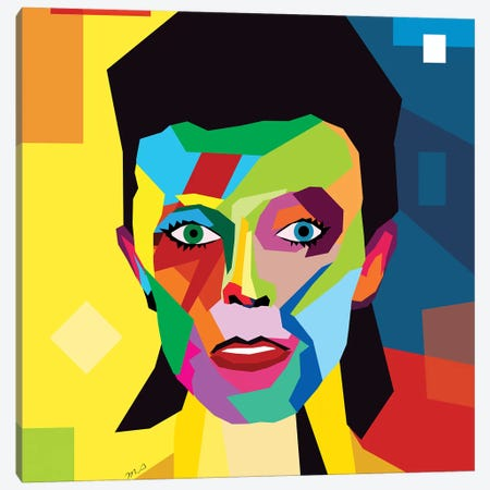 Bowie Canvas Print #MKH129} by Mark Ashkenazi Canvas Wall Art
