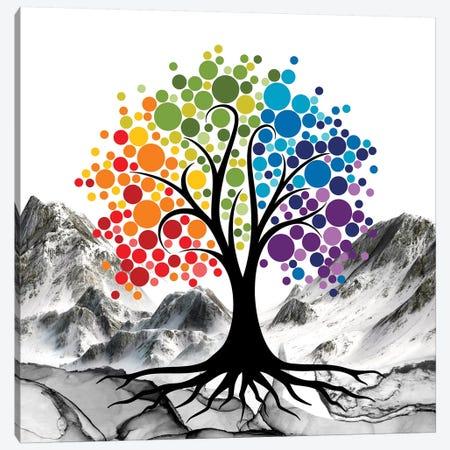 Colored Tree Canvas Print #MKH130} by Mark Ashkenazi Art Print
