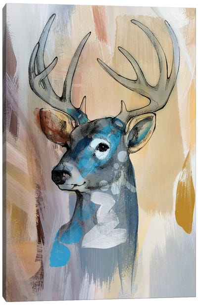 Deer Painting Canvas Art Print