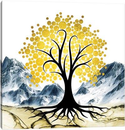 Gold Tree II Canvas Art Print