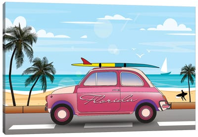Summer In Florida Canvas Art Print