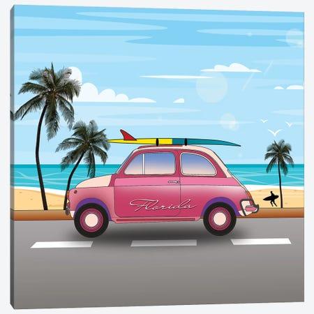 Summer In Florida Square Canvas Print #MKH136} by Mark Ashkenazi Canvas Wall Art