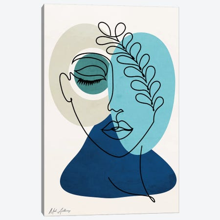 Woman In Love 2 Canvas Print #MKH140} by Mark Ashkenazi Canvas Art
