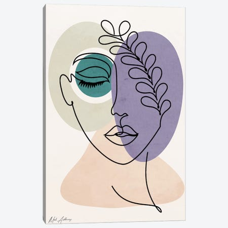 Woman In Love Canvas Print #MKH141} by Mark Ashkenazi Canvas Artwork