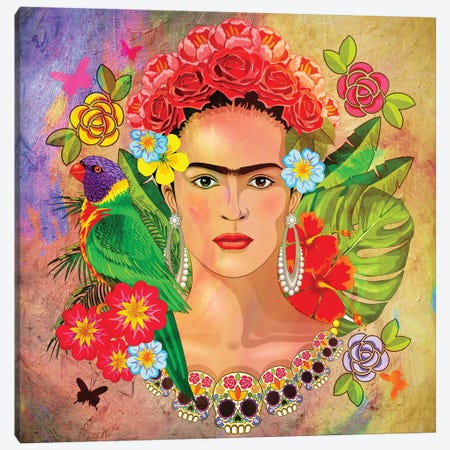 Frida Kahlo 3 Canvas Print #MKH142} by Mark Ashkenazi Canvas Artwork
