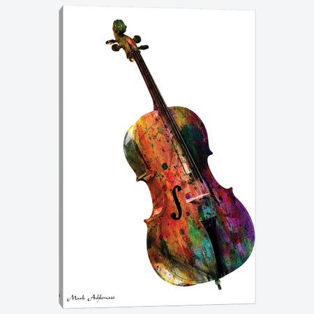 Cello Canvas Print #MKH16} by Mark Ashkenazi Canvas Art Print