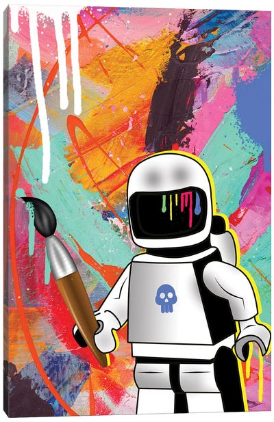 Space Painting Canvas Art Print