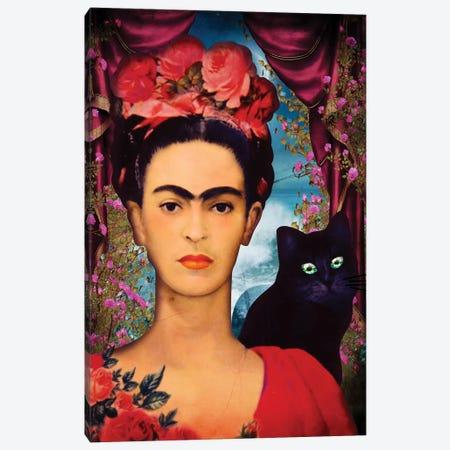 Frida Kahlo Canvas Print #MKH31} by Mark Ashkenazi Canvas Artwork