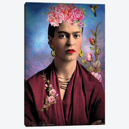 Frida Kahlo M Canvas Print #MKH32} by Mark Ashkenazi Canvas Artwork