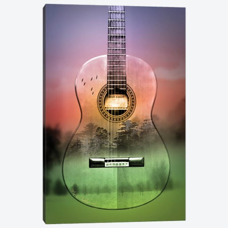 Guitar Forest Canvas Print #MKH37} by Mark Ashkenazi Art Print