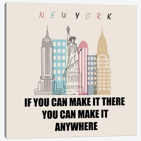 If You Can Make It There You Can Make It Anywhere Canvas Print #MKH48} by Mark Ashkenazi Art Print