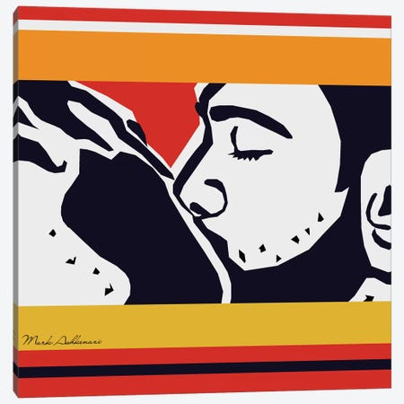 Kiss Canvas Print #MKH53} by Mark Ashkenazi Canvas Artwork