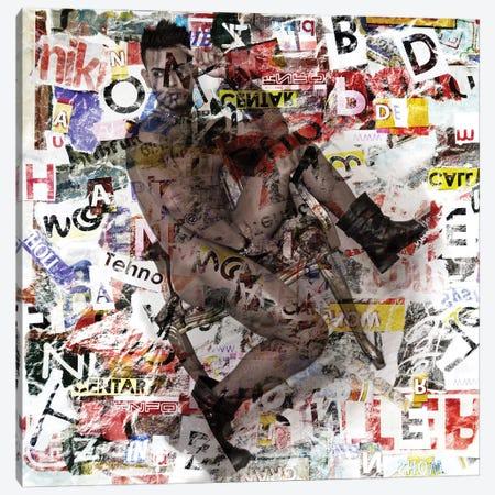 Male Figure Mixed Media Canvas Print #MKH59} by Mark Ashkenazi Canvas Art
