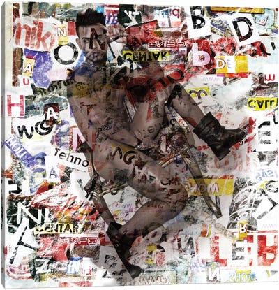 Male Figure Mixed Media Canvas Art Print