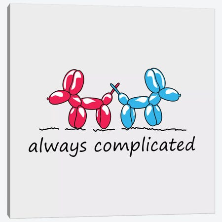 Always Complicated Canvas Print #MKH5} by Mark Ashkenazi Canvas Art