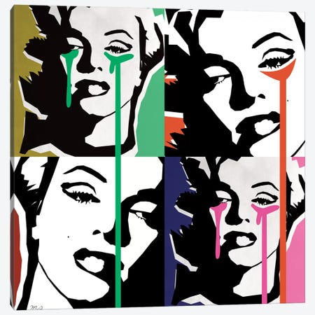 Marilyn Collage Canvas Print #MKH65} by Mark Ashkenazi Canvas Wall Art
