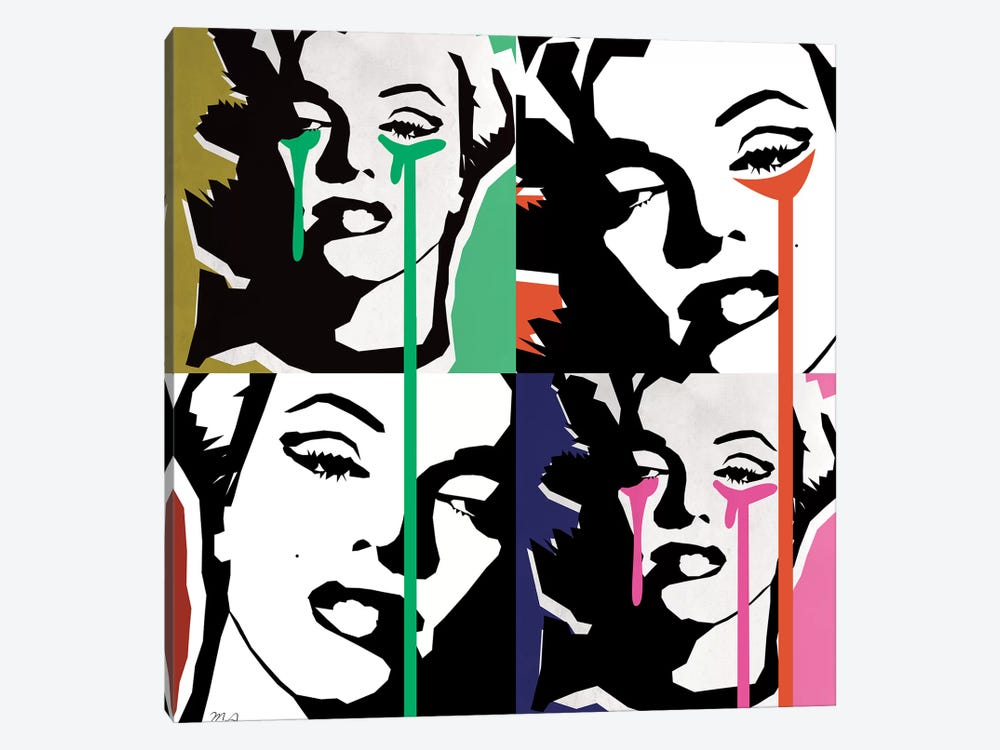 Marilyn Collage by Mark Ashkenazi 1-piece Canvas Art