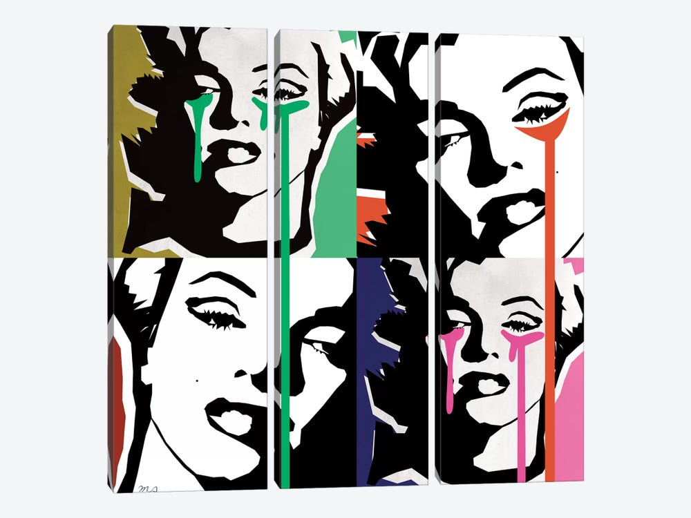 Marilyn Collage by Mark Ashkenazi 3-piece Canvas Art