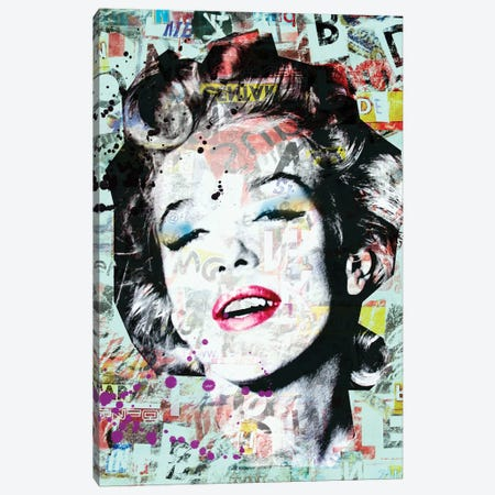 Marilyn Mixed Media Canvas Print #MKH66} by Mark Ashkenazi Canvas Art