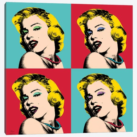 Marilyn Monroe Pop Art Canvas Print #MKH69} by Mark Ashkenazi Canvas Art Print